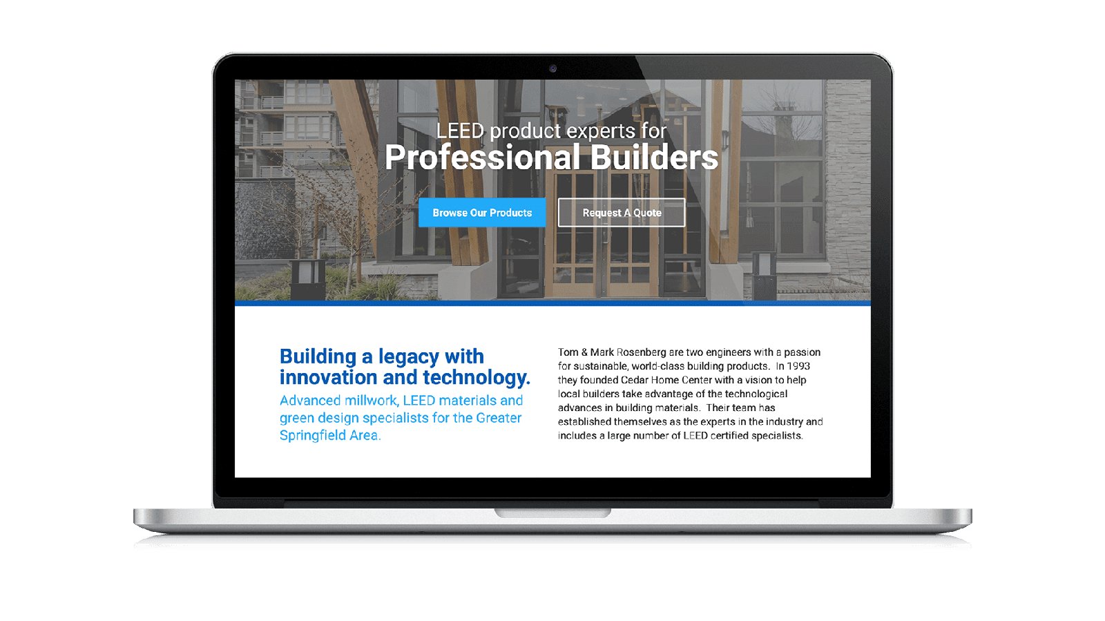 Laptop with Groundwork Designed Website Layout